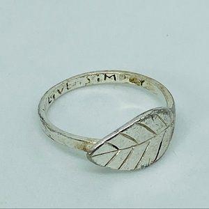 Leaf Ring Sterling Silver 925AL Live Simply Sz 7.5